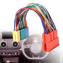 1 قطعة سيارة صغيرة ISO 20Pin التوصيل تمديد CD تسخير مهائي كابلات مكافحة التدخل الكهرومغناطيسي ل ترموستات التبريد بالماء لسيارة أودي A2 A3 A4 A6 TT