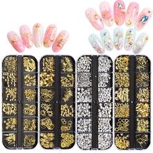 MORDDA diamantes de imitación de uñas 3D Cristal AB piedras de uñas colores mezclados DIY decoración de uñas remache oro plata diamantes de imitación