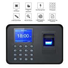 Биометрический отпечаток пальца машина посещаемости времени диктофон офисный регистратор работника устройство распознавания управления 5 языков