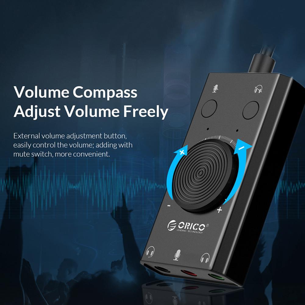 Orico SC2 USB 2.0 External Sound Card 6
