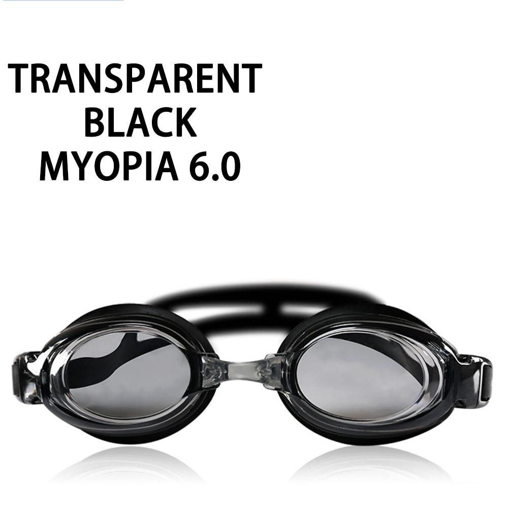 Оптическая близорукость плавательные очки 200-800 градусов Силиконовые противотуманные водная диоптрия плавательные очки для мужчин и женщин очки по рецепту - Цвет: Myopia 600