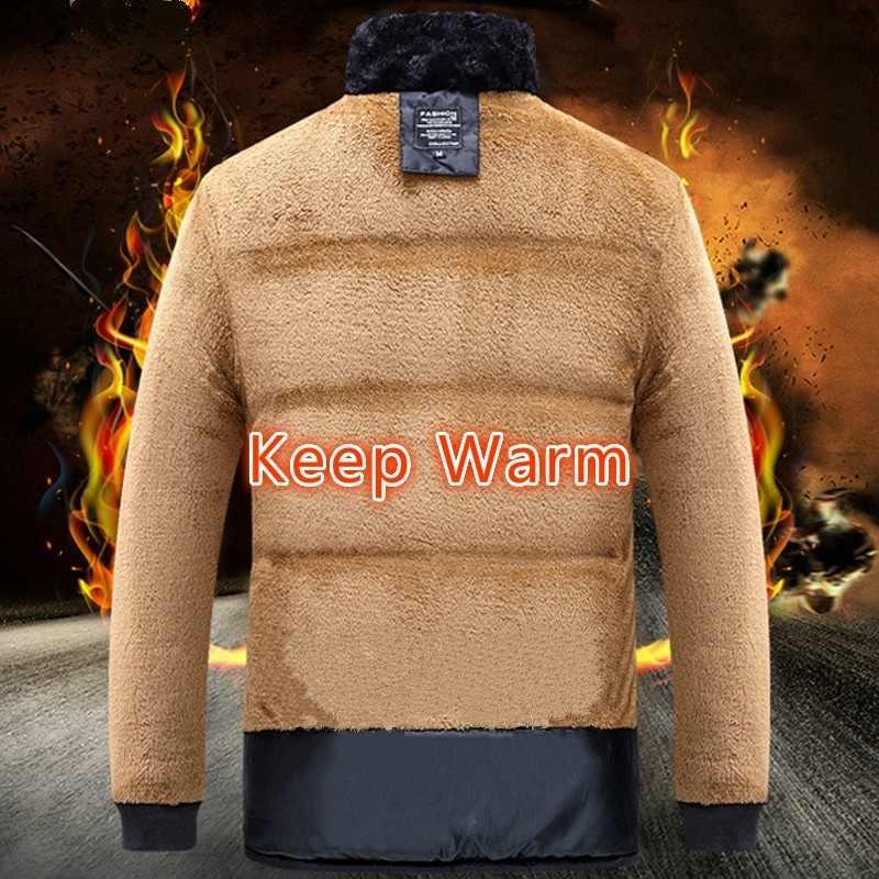 2019 冬の男性のジャケットコート暖かいなフード付き Outwears 男性パーカーコート男性のプラスベルベット厚みの毛皮ジッパーオーバーコート