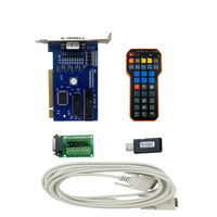 CNC Engraving Cutting Machine Controller Kit 5.4.49 Ncstudio Control Card + XHC WHB02 USB Wireless Remote Handle