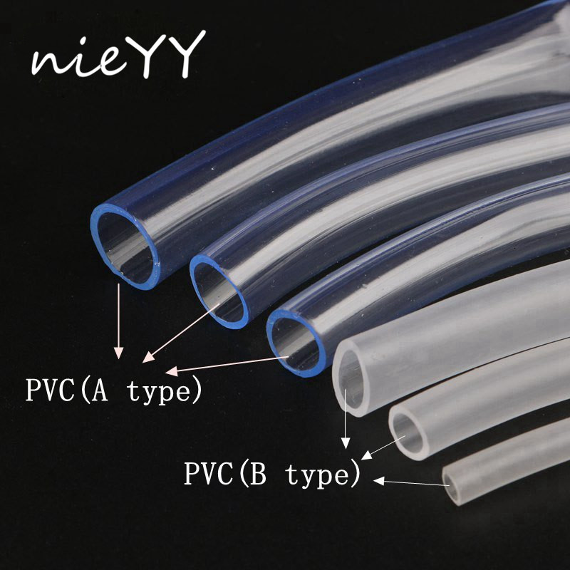 3m Food Grade PVC Transparent Hose PVC Pipe Garden Hose 3/4/5/6/7/8/10/12mm Pvc Hose For Garden Irrigation Flexible Oxygen Tube