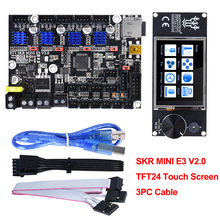 Bigtreetech Skr Mini E3 V2.0 + TFT24 V1.1 Touch Screen Control Board TMC2209 Uart 3D Printer Onderdelen Voor Creality Ender3 CR10 Diy