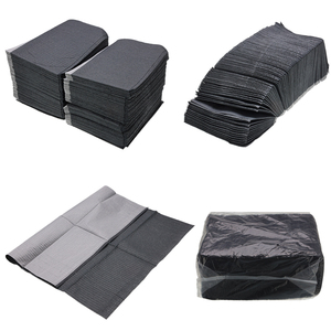 Image 2 - 125PCS/Pack Disposable Tattoo Wipes Scarf Black Cleaning Piercing Bibs Waterproof Sheets Paper For Dental Tattoo Accessories