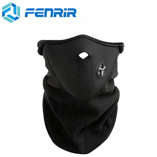 FENRIR Motorcycle Half Face Mask Cover Fleece Unisex Ski Snow Moto Cycling Warm Winter Neck Guard Scarf Warm Protecting Maske