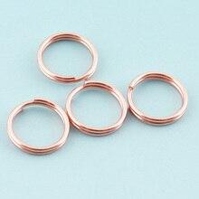 Split-Rings Key-Chain Mini Metal 10 for Wholesale 200pcs 10mm Rose-Gold