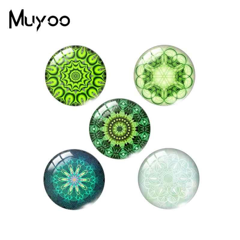 Mandala Handmade Glass Cabochons,Dome Glass Cabochons,Digital Cabochons Kaleidoscope Cabochons\uff0cphoto Cabochons,Glass Cover