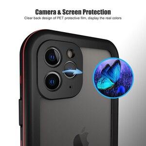 Image 3 - SHELLBOX מקרה עמיד למים עבור iPhone 11 פרו מקסימום 360 מגן כיסוי עמיד הלם שחייה צלילה Coque עבור iPhone11 מתחת למים מקרה