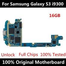 100% ปลดล็อก Logic BOARD,รุ่นยุโรปสำหรับ Samsung Galaxy S3 i9300 เมนบอร์ดระบบ Android