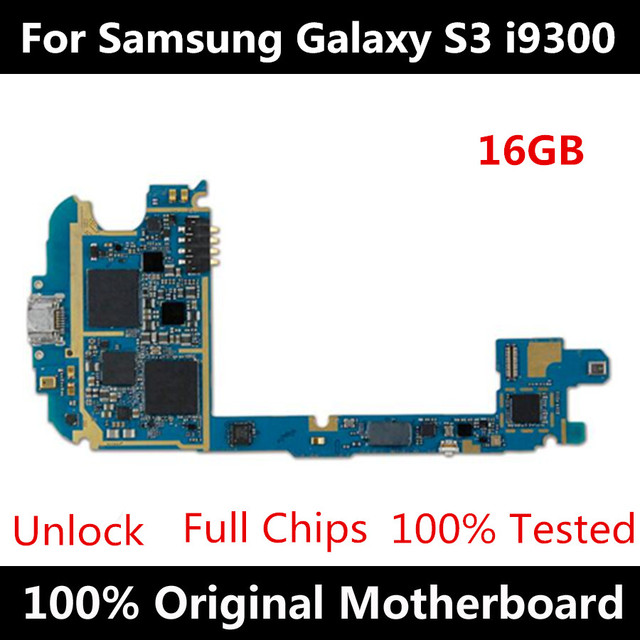 100% original unlocked logic board,europe version for samsung galaxy S3 i9300 motherboard with android system