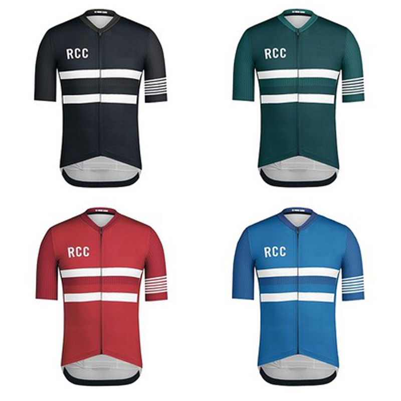 2019 Men Cycling Jersey Rcc blue Pro Team Short Sleeve Maillot Bike Shirt Light Breathable Quick Drying Bicycle Bisiklet