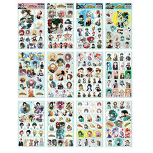 12pcs/lot Boku no Hero Academia Anime Stickers Classic Toys Book Skateboard Doodle Toy Stickers