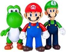Set Van 3 Super Marios Speelgoed Luigi Cijfers Marios Bros Action Figures Pvc Speelgoed Cijfers Super Marios Anime Figuur Model