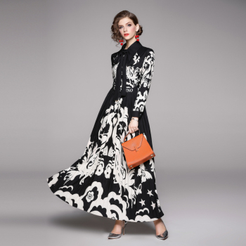 Fashion brand runway looks flowers posed dress