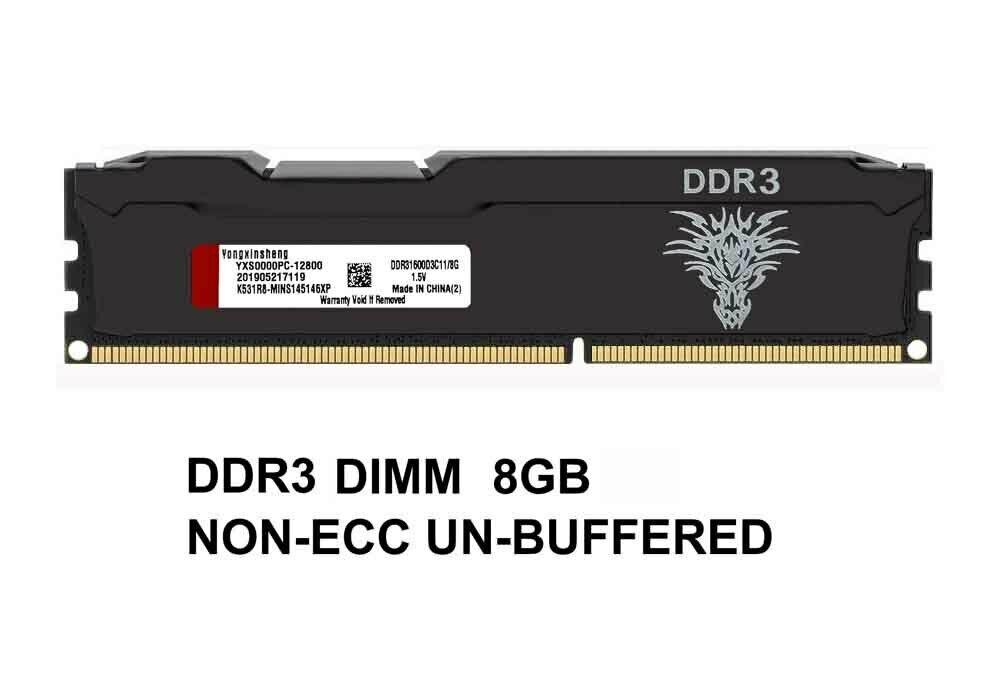 PC3-12800 (DDR3-1600MHZ) PC4-19200(DDR4-2400MHZ) 8G DIMM Unbuffered Non-ECC Desktop Memory Ram