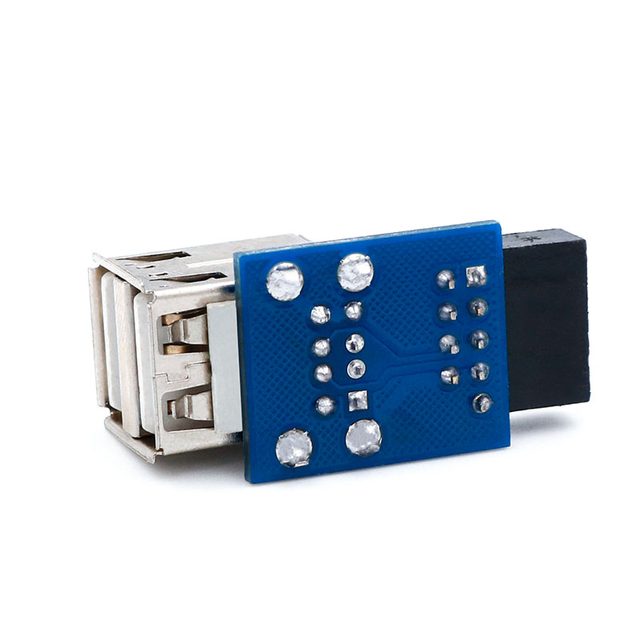 USB HUB 9Pin PC Host Internal Motherboard USB 2.0 Hub 9Pin to 2 Port USB A Female Splitter Converter PCB Board Extender Card NEW 5