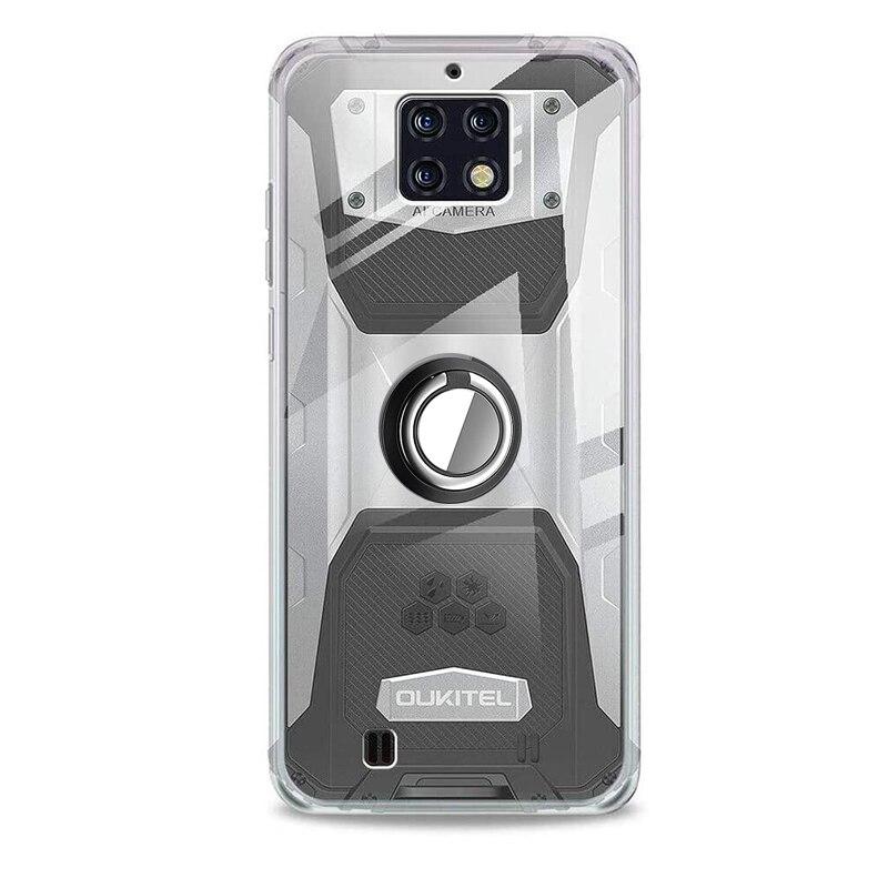 Чехол для OUKITEL WP6, чехол с магнитным держателем для автомобильных пальцев, мягкий ударопрочный прозрачный чехол из ТПУ для OUKITEL WP6, чехол