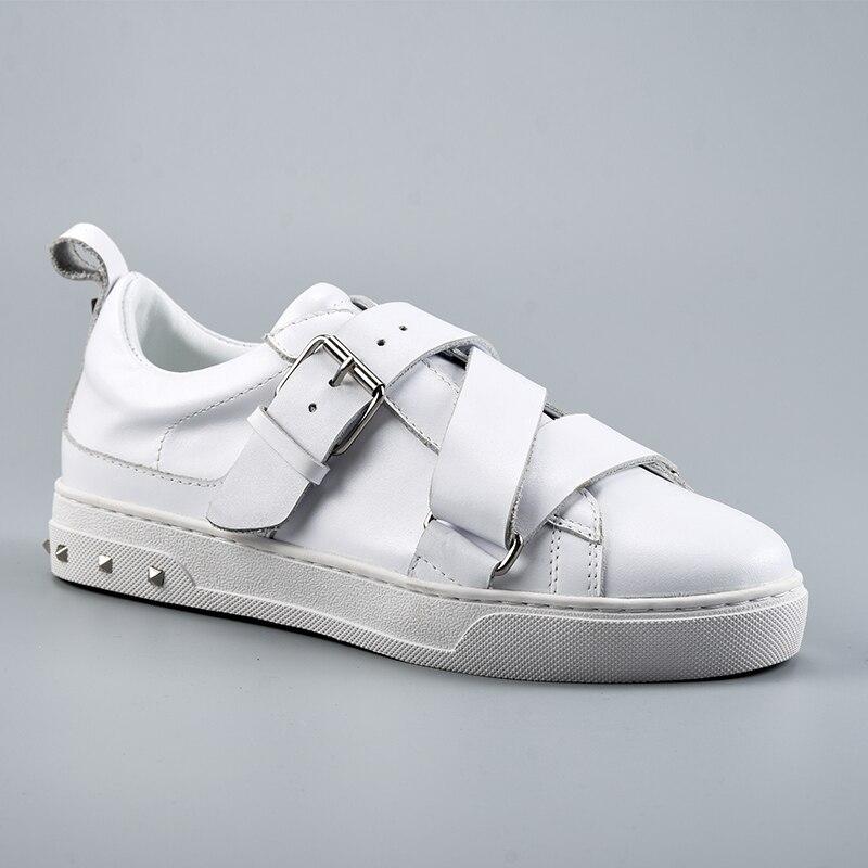 2019 zapatillas mujer; Повседневная обувь; женская обувь на плоской подошве; Высококачественная Брендовая обувь из натуральной кожи; Размеры 35 41 - 4