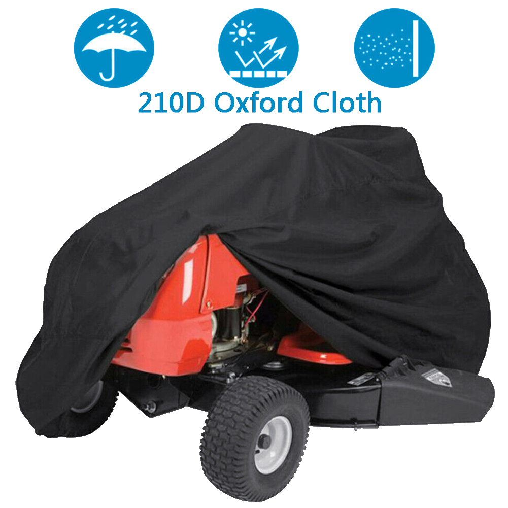 Anti Freeze Oxford Cloth Solid Garden Storage Bag Outdoor Protective Heavy Duty Waterproof Sunscreen Lawn Mower Tractor Cover