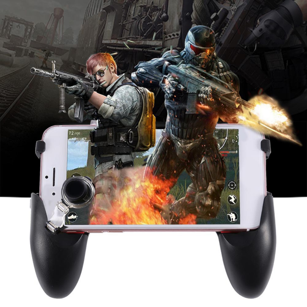 Image 5 - 5 in 1 PUBG Moible Controller Gamepad Free Fire L1 R1 Triggers PUGB Mobile Game Pad Grip L1R1 Joystick for iPhone Android Phone-in Gamepads from Consumer Electronics