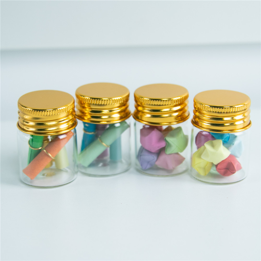 50 Pcs 22x35mm Small New Empty Clear 6ml Bottles Glass Vials With Screw Cap @