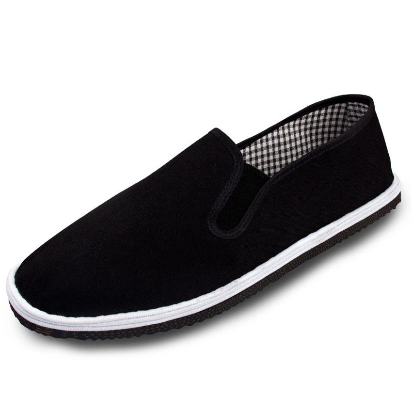 Men's Chinese Traditional Shoes Ace Martial Arts Bruce Lee Tai Chi  Kung Fu Beijing Black Rubber Sole Cloth Shoes 35-44