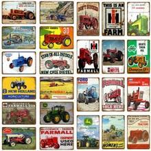 Farmall сельскохозяйственные тракторы металлические оловянные знаки сельскохозяйственная машина сельскохозяйственная табличка настенная живопись плакат Паб Клуб Гараж Декор YH064
