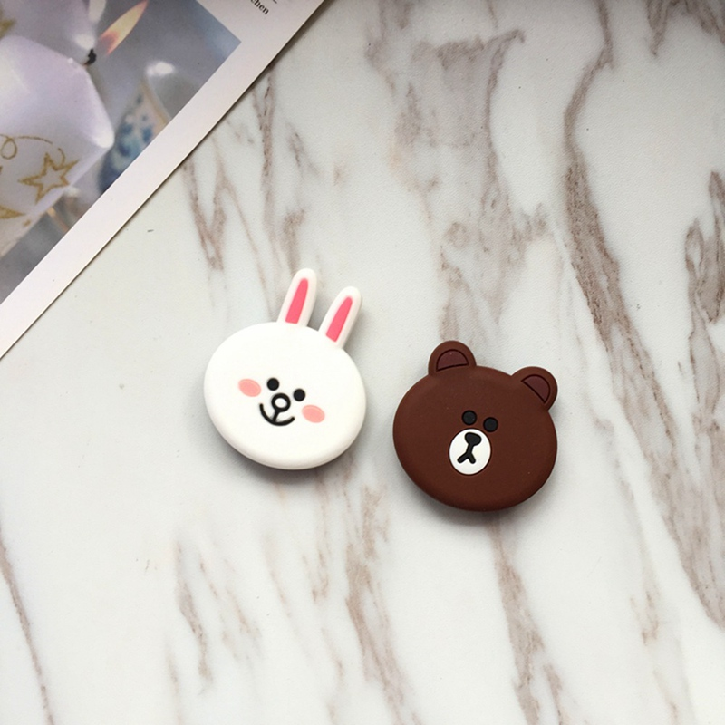 Многофункциональный держатель для телефона с изображением кролика и медведя, крепление для гнезда, кронштейн для подушки безопасности для