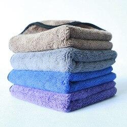 Produttori di Alimentazione Asciugamano In Microfibra Auto di Lucidatura a Cera di Spessore Bordo Coperto di Acqua Assorbente Asciugamano Elaborazione Logo Personalizzabile