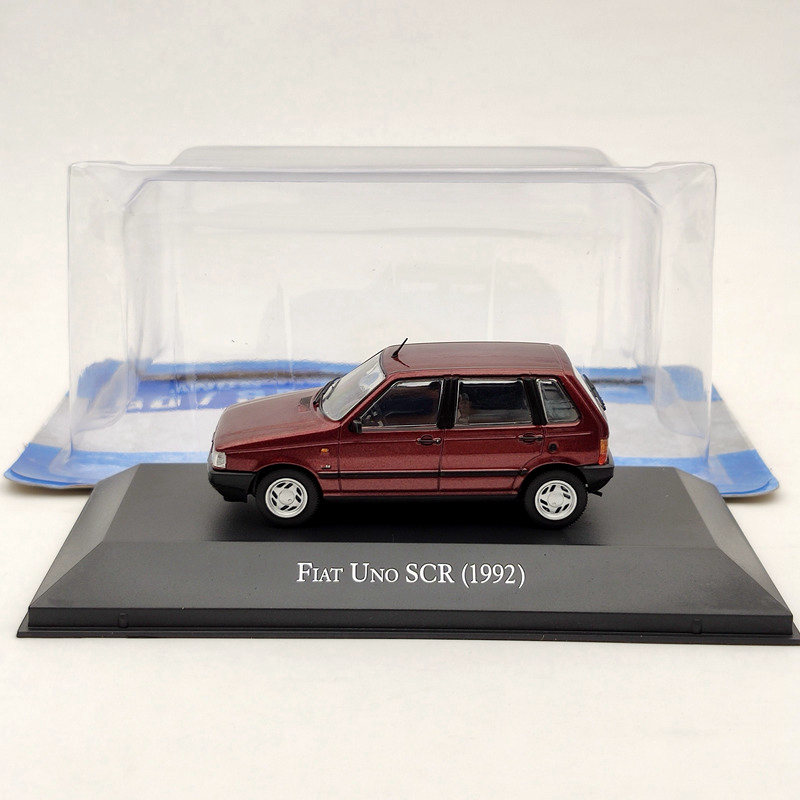 IXO 1:43 For Fiat Uno SCR 1992 Red Diecast Models Limited Edition Collection