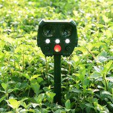 2020 New Outdoor Ultrasonic Solar Pest Repeller Animal Pest Mouse Repeller PIR Sensor Garden Bird Cat Dog Repellent Animals Keep