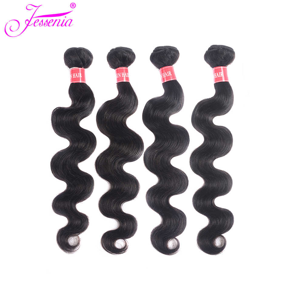 Peruvian Body Wave Human Hair Bundles 100% non Remy Hair Extension Natural Color 4 Bundles Hair Weaves Double Weft 100g/bundle