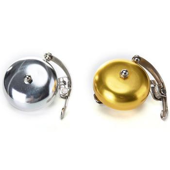Retro metalowy dzwonek rowerowy rowerowa kierownica rowerowa dzwonek sygnał dźwiękowy złoty róg nowość tanie i dobre opinie Elektryczne róg SP05705A1 Aluminium Alloy 2 16 inch