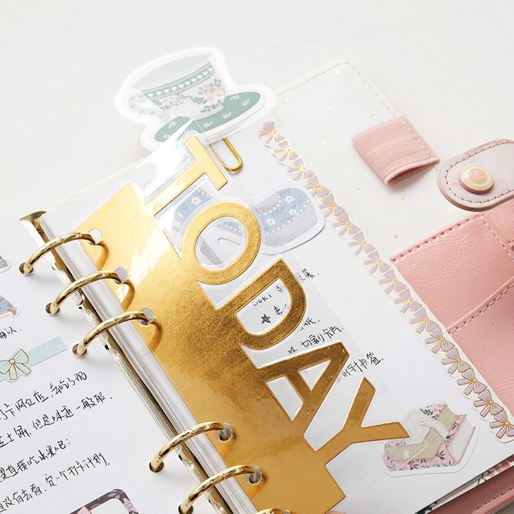 Lovedoki Cute Plastic Covered Bookmark Fruit Duck Cute Cartoon Paper Clip Bookmarks Planner Decorative Accessories Stationery