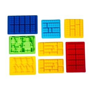 DIY формы 8 шт конфеты формы для лего любителей шоколада Силиконовая для кубиков льда выпечки сделать Премиум Кухня для мороженого на палочке...