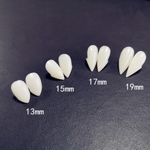 Colmillos de dientes de vampiro de 4 tamaños, accesorios para disfraces de Halloween, accesorios para fiestas, decoraciones de vacaciones, decoraciones de horror para adultos para niños