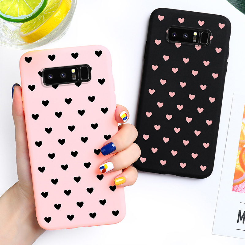 Love Heart Candy Case For <font><b>Samsung</b></font> <font><b>Galaxy</b></font> <font><b>Note</b></font> <font><b>8</b></font> Note8 Duos N950F N950FD N950U/U1 N950W N9500 <font><b>N950N</b></font> 6.3 inch Covers Silicone Soft image
