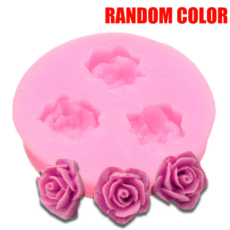 Silicone 3D Rose Flower Cake Mould Mini DIY Rose Chocolate Cookies Cupcake Mold Soap Fondant Sugarcraft Decor Kitchen Bakeware