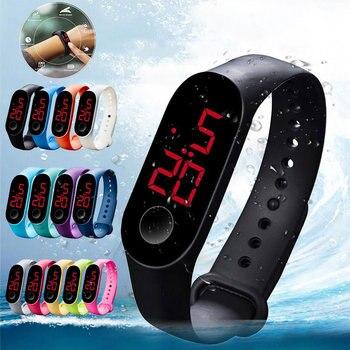 Fashion Men Women Sport Watch Waterproof LED Luminous  Electronic Sensor Watches Casual Bracelet Wrist Watch Thanksgiving Gift