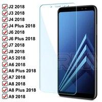 9H HD Gehärtetem Glas Für Samsung Galaxy A5 A7 A9 J2 J3 J7 J8 2018 Screen Protector A6 A8 j4 J6 Plus 2018 A10 A30 A50 A70 Glas