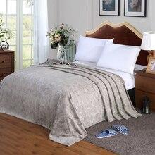 Мягкая одноцветная кровать для путешествий, серый зимний, максимальный комфорт, диван, теплое микро плюшевое Флисовое одеяло, плед, диван, постельные принадлежности