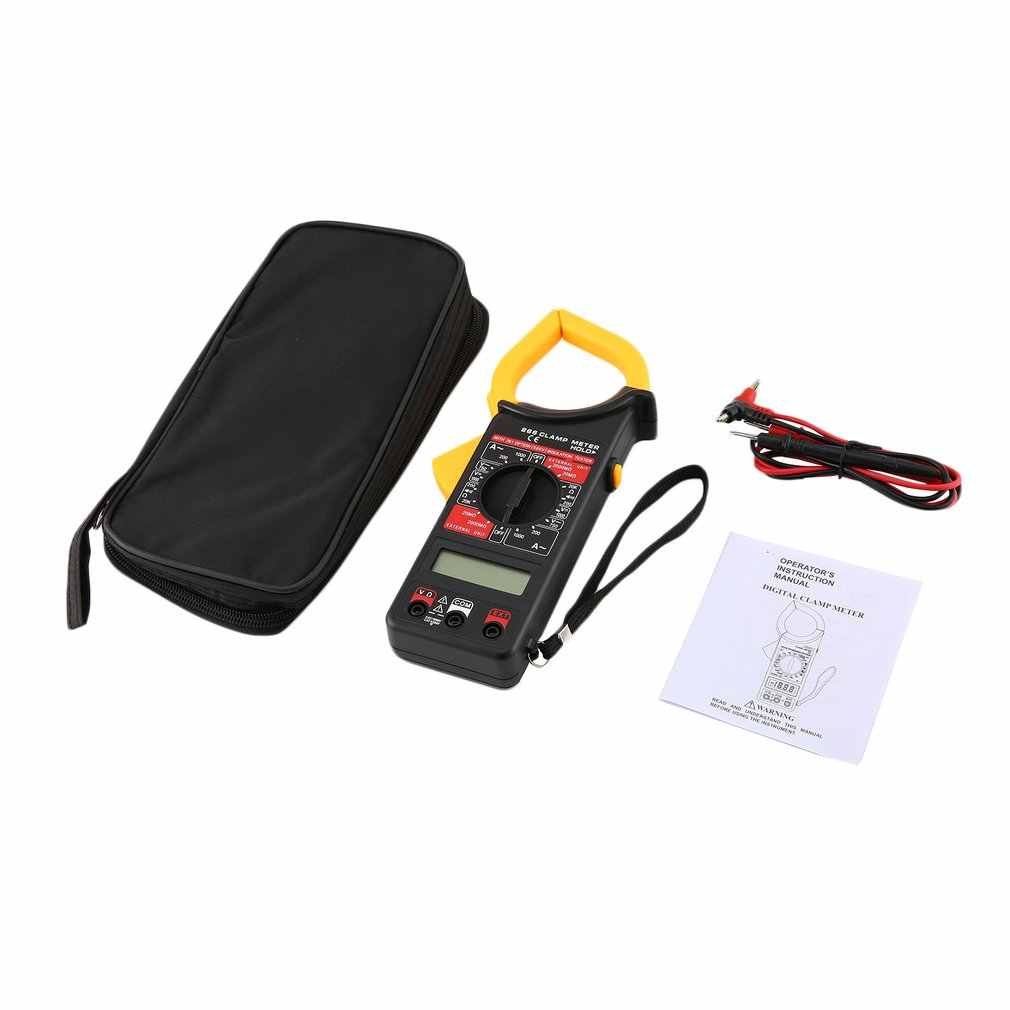 DT266 Handheld Digital Clamp Meter Multimeter AC/DC Volt Current Voltage Ohm Tester Resistance Ammeter Insulation Multitester