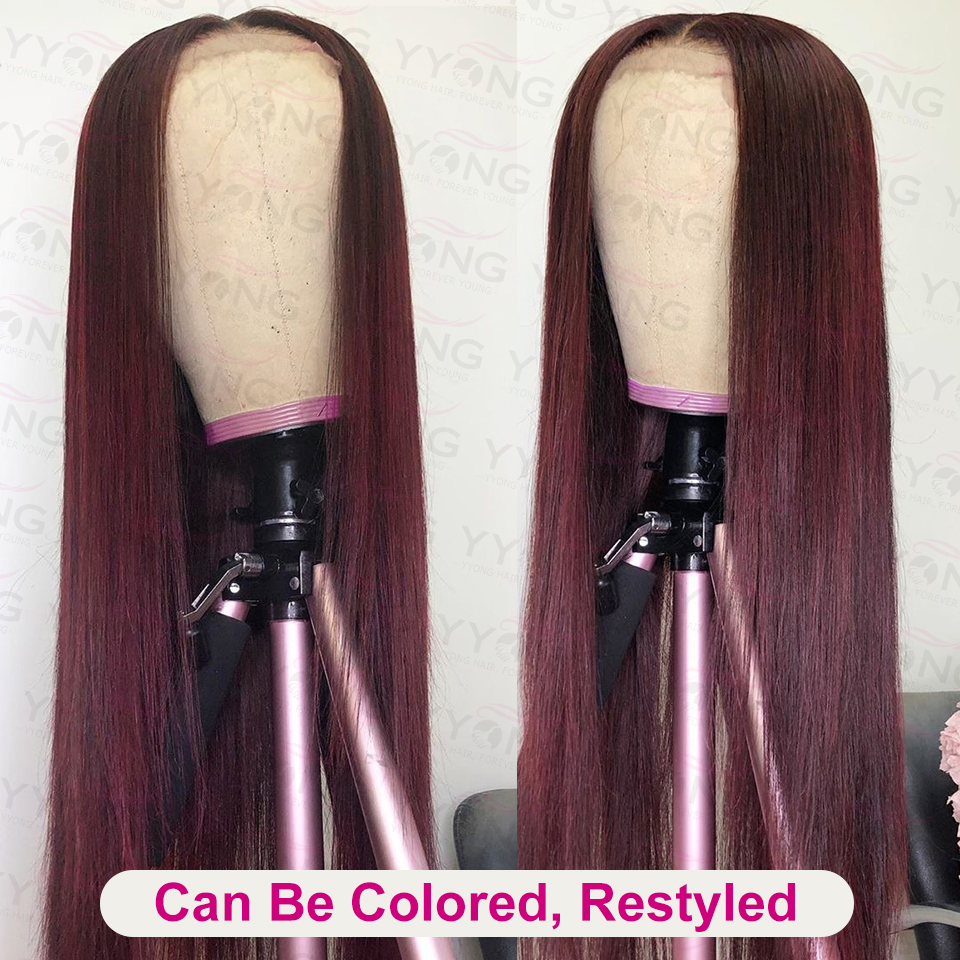 YYONG 4X4 & 13x4 Lace Front  Wigs    Straight  Lace Closure Wig Baby Hair 30inch 130% 5