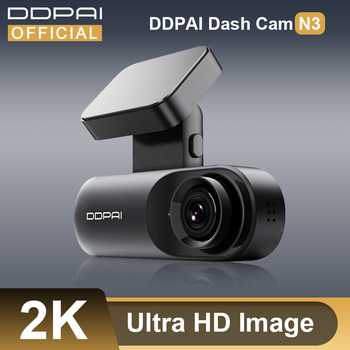 DDPAI Dash Cam Mola N3 1600P HD GPS Vehicle Drive Auto Video DVR 2K Android Wifi Smart Connect Car Camera Recorder 24H Parking