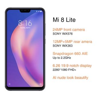 Global ROM Xiaomi Mi 8 Lite 6GB RAM 64GB ROM Cellphones & Telecommunications