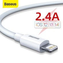 Baseus 2.4A USB Cable for iPhone 11 11 Pro 8 X Xr 2pcs Fast Charging USB Cable Data Sync Cable Phone Charger Cable Wire Cord