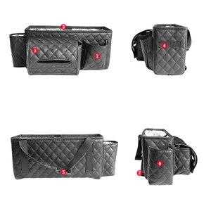 Image 3 - Car Back Seat Organizer Bag Multi Pocket Hanging Pouch Leather Storage Bag