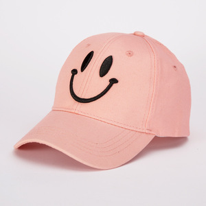 Image 4 - Korean version of fashion cotton baseball cap lady casual smiling face solid color hat spring and summer outdoor sunshade cap